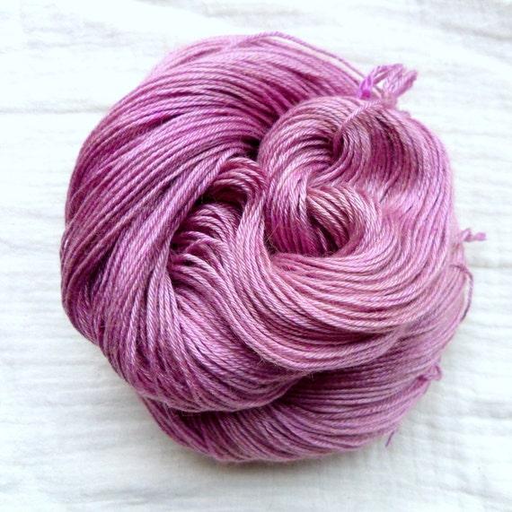 Hand Dyed Baby Camel & Silk 4ply 100g - Raspberry Parfait