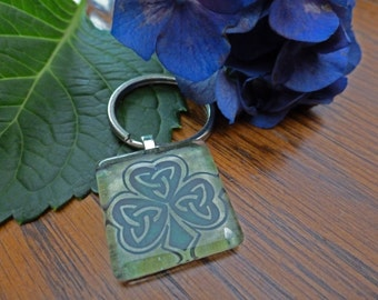 CELTIC KNOT SHAMROCK KeY RingS Wedding FaVors  - Set of 25