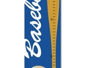 Baseball Growth Chart Children Canvas Personalized Sports Decor Baby