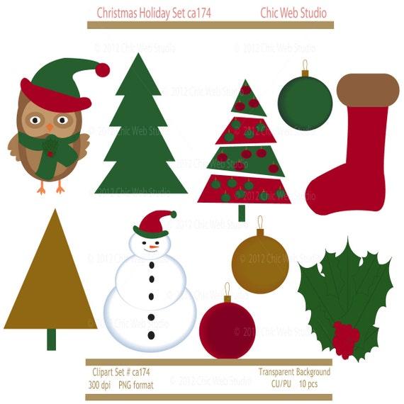 christmas clipart etsy - photo #17