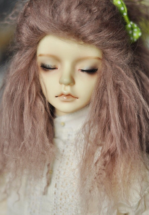 "10in"" long Dark Pink Wig for Volks BJD SD Dolls"