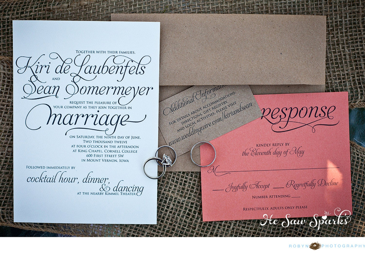 What To Include In A Wedding Invitation Pack: Lovely Script Wedding Invitation Package Printable DIY