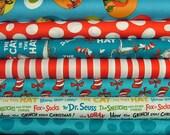 Half Yard Bundle of Celebration The Cat in the Hat by Dr. Seuss Enterprises for Robert Kaufman