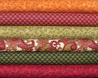 Fat Quarter Bundle of Bountiful by Color Principle for Henry Glass