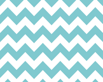"End of Bolt 17"" of Medium Chevron in Aqua by Riley Blake"