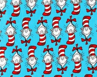 1 Fat Quarter Celebration The Cat in the Hat Faces by Dr. Seuss Enterprises for Robert Kaufman