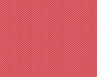 Red Herringbone from the Apple Of My Eye Collection by The Quilted Fish for Riley Blake