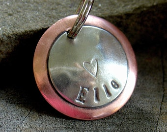 Dog ID Tag- Elle- small heart tag for dogs and cats