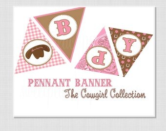Cowgirl Collection: Printable Pennant Banner