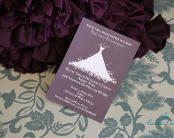 PRINTED Wedding Dress Bridal or Wedding Shower