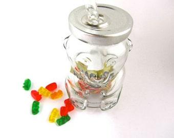 Gummi Bear Jar To Go Cup with Glass Straw-  8oz