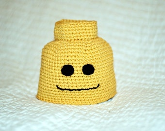 Crochet Block Man Beanie Newborn to Adult Pattern