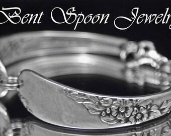 Spoon Bracelet, Spoon Jewelry, Endearable 1954 Silverware Bracelet, Silverware Jewelry