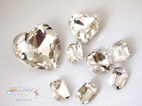 Ultra Bling Large Clear Crystals in Various Sizes for Decoden or Mobile Decoration