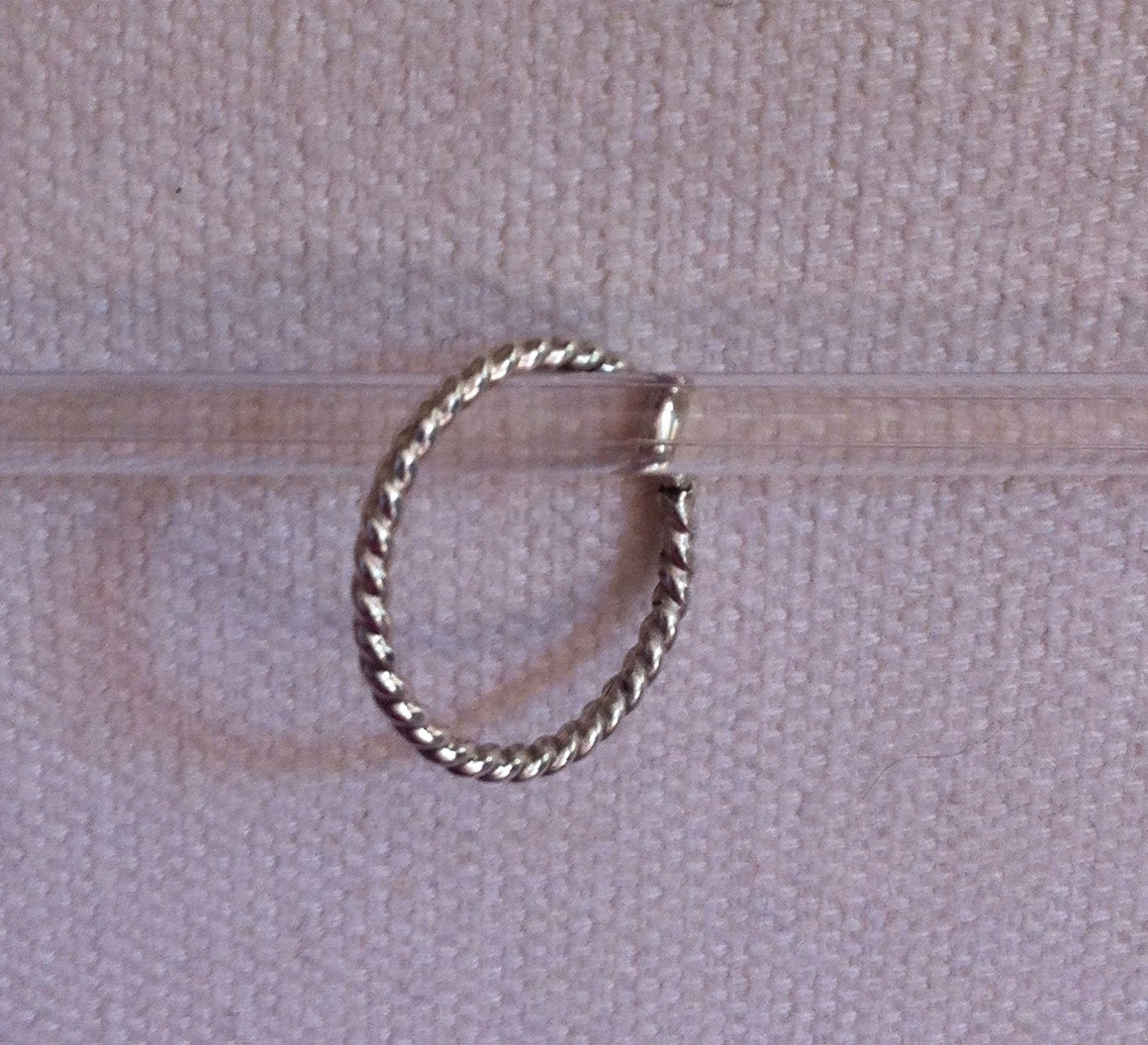 Rope Design Bands: Twisted Rope Design STERLING SILVER Ring Recycled Silver