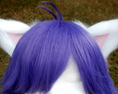 White and Pale Pink Clip on Cat Ears