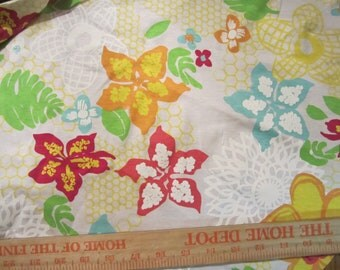 Pretty Fresh Produce Tropical Paradise Blooms Cotton Knit Fabric