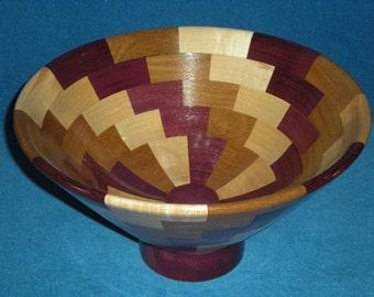 Bowl, maple, afromisa, purpleheart