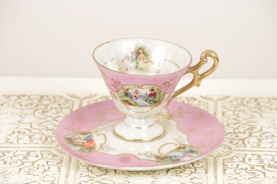 Vintage Pink Royal Ainsley Tea Cup and Saucer set