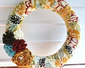 Fabric Wrapped Evie Wreath