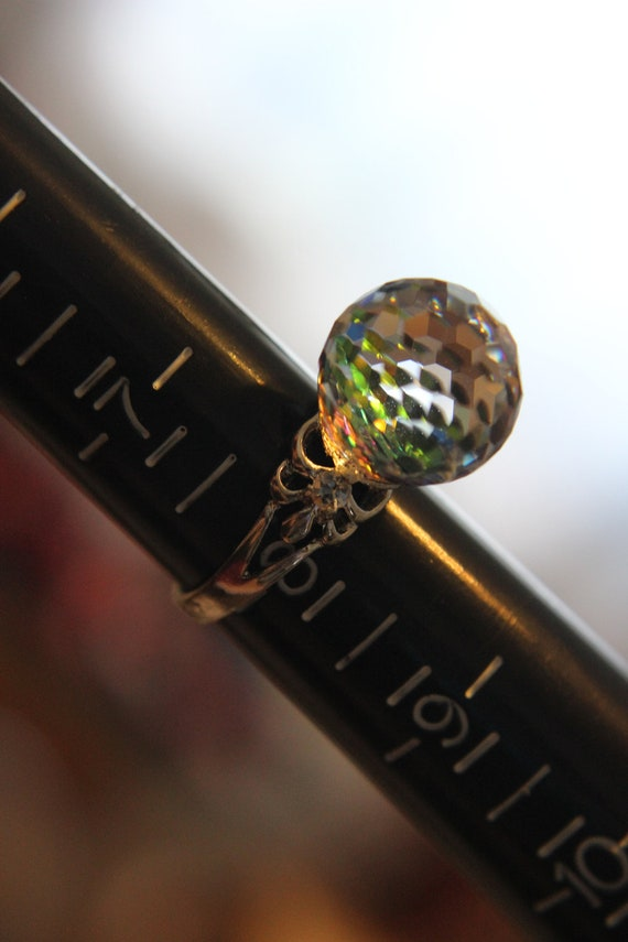 14mm Swarovski Crystal Ball Ring Sz 8