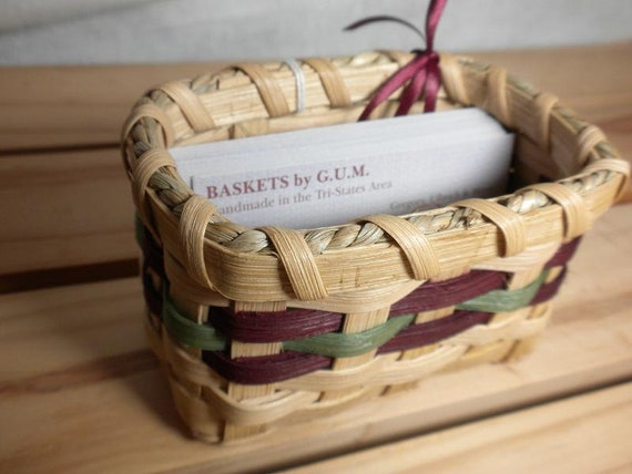 Handmade Business Card Basket - Can Be Customized