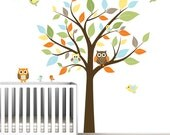 Nursery Wall Decal Stickers Children Wall Decal Tree wall decal Owl Birds