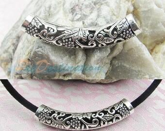 Tibetan Antique Silver Hollow Bend Shape Moulding Accessories for Necklace, Bracelet, Angklet, Waist Chain, Pendant etc.