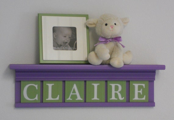Purple Green Nursery Decor Baby Girl Nursery Wall Art