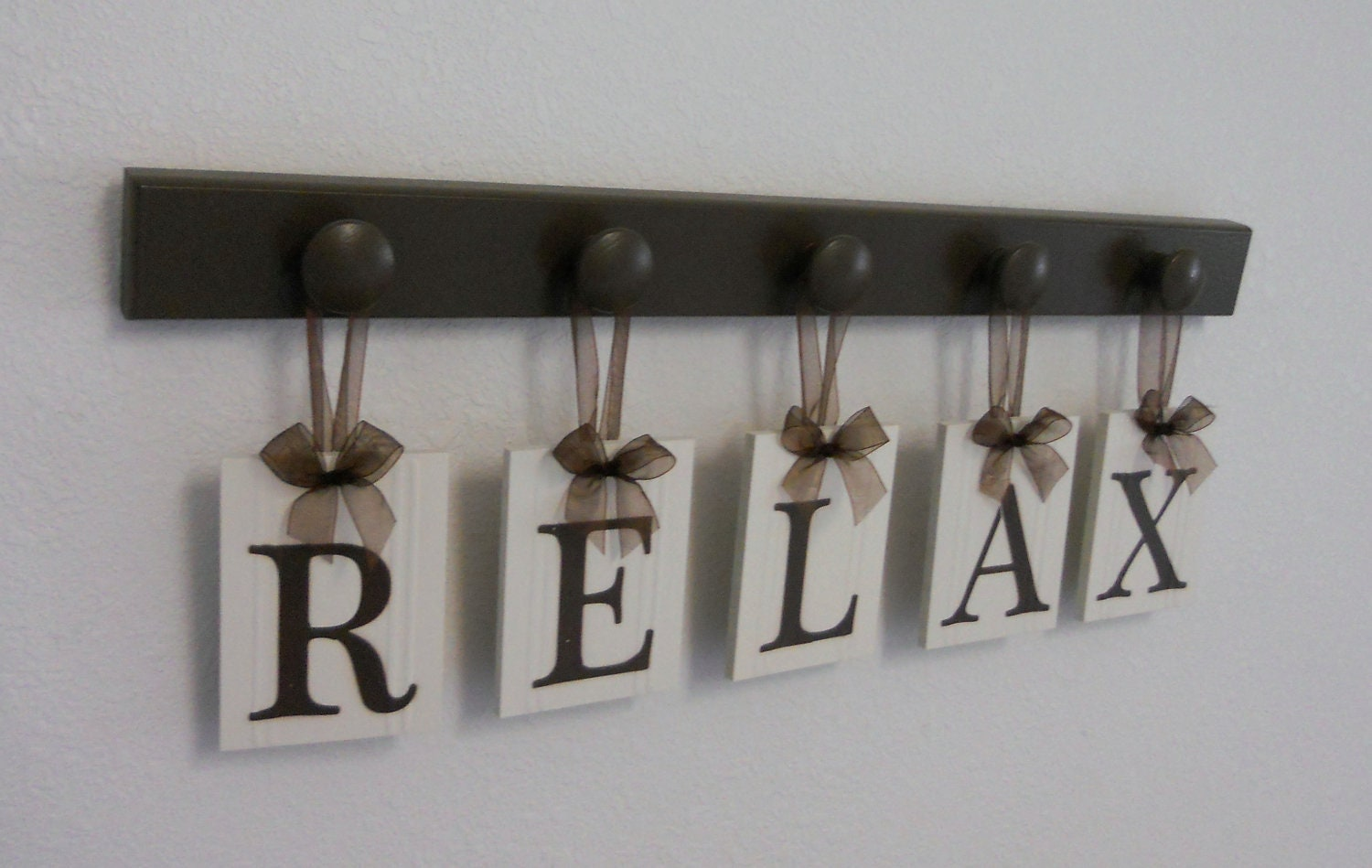 relax sign wall words personalized hanging letters includes. Black Bedroom Furniture Sets. Home Design Ideas