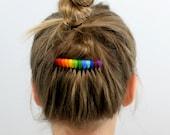 Threaded Rainbow Hair Comb