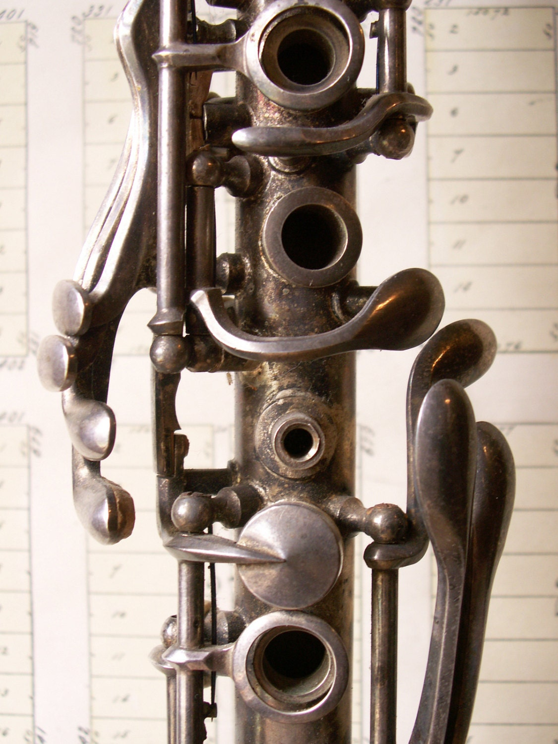 Vintage Selb Metal Clarinet with case Perfect Wedding Decor