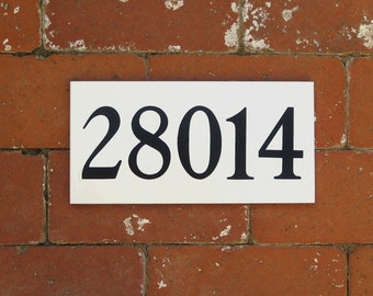 Outdoor House Numbers WHITE or CREAM /Ceramic Tile Numbers/ Address Plaque/Address Numbers/