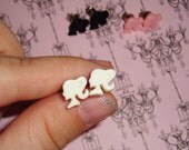 Tiny Barbie Silhouette Earrings
