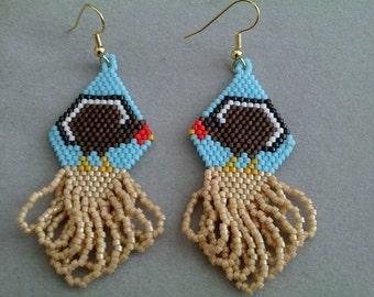Turkije Beaded Earrings voor Thanksgiving