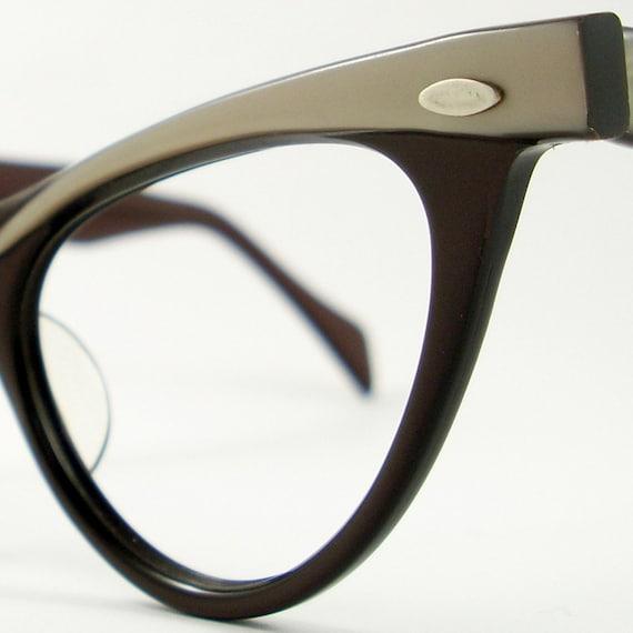 Vintage  Cat Eye Glasses Eyeglasses Sunglasses Glasses New 50s Frame France
