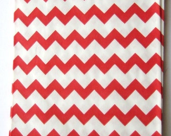 20 Red Chevron Bitty Bags - Party Favor - Candy - Party Supplies A118