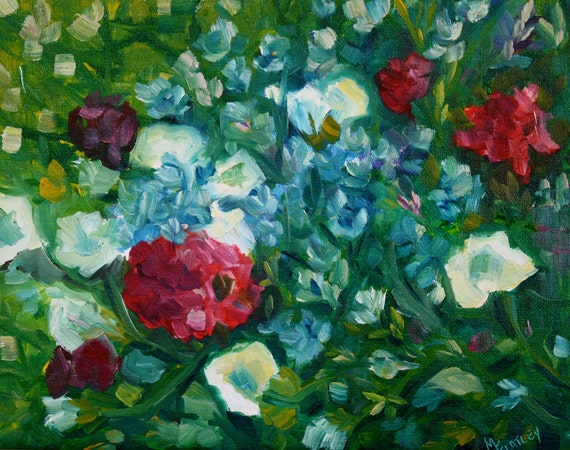 Abstract Painting Flowers - Oil Painting Floral - Flower Painting