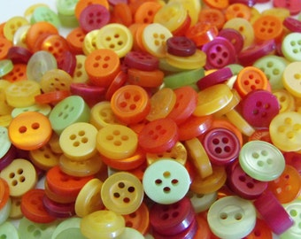 Fiesta Buttons, 50 Small Assorted Round Sewing Crafting Bulk Buttons