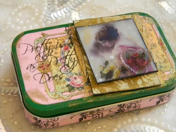 Pretty Is As Pretty Does Keepsake Treasure Tin