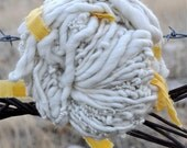 White Handspun Yarn, Thick and Thin, Ready for Dye