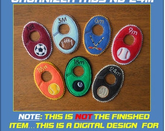 In The Hoop Baby Closet Organizer Tab Designs for Embroidery Machines