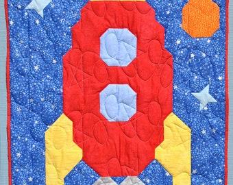 Rocket Baby Quilt Pattern -PDF