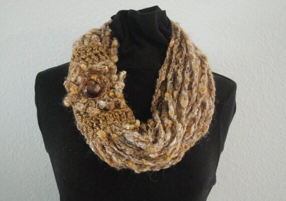 fall flower scarf infinity