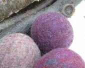 Dryer Balls, set of 6 plummy purples, Free Shipping to USA