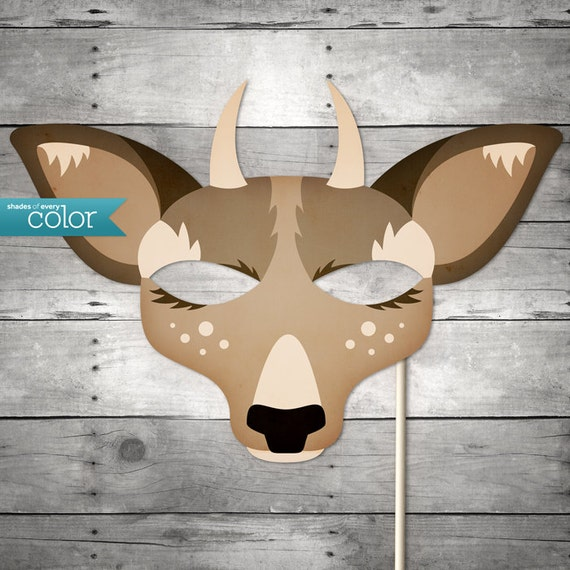 Diy printable spike horn deer mask by shadesofeverycolor for Swan mask template