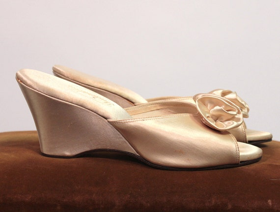 White Satin Boudoir Slippers Indorables By By Carlaandcarla