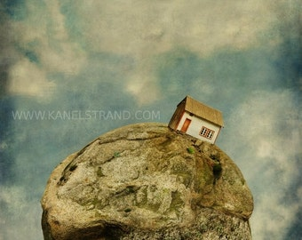 Surreal art print, fantasy landscape picture, dreamscapes, kids room decor