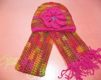Popular Style Beanie Hat and Scarf Set for a Little Girl