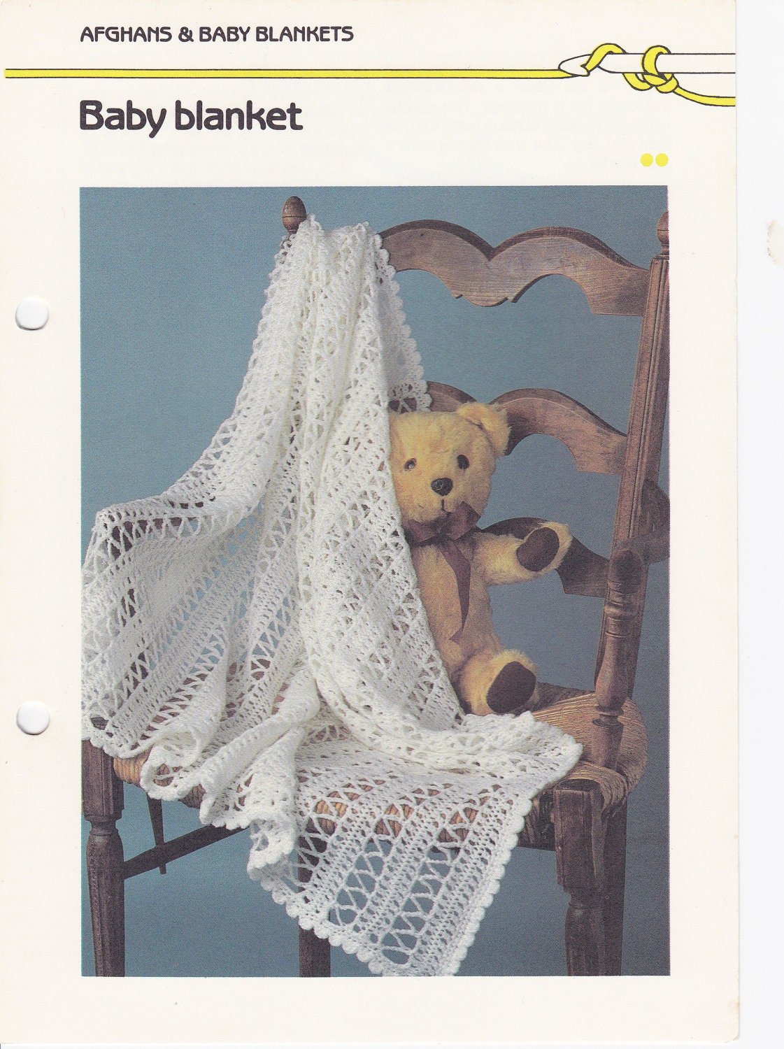 Crochet Baby Blanket Pattern Hairpin Lace